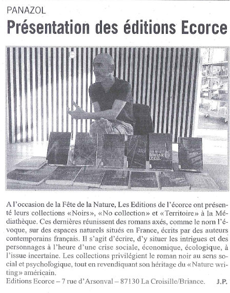 L'écho 14 avril 2017 editions ecorce