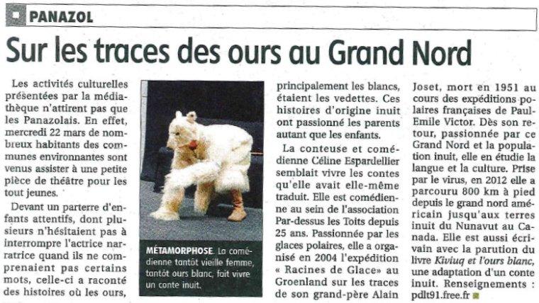 Le populaire 31 mars 2017 contes inuit