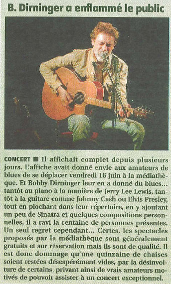 Le populaire 24 juin 2017 concert Bobby Dirninger