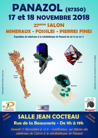 affiche minéraux 2018
